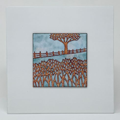 in klöver | ni design - Janine Partington - Enamel on Copper 'Beyond the Hedge' Wall Panel